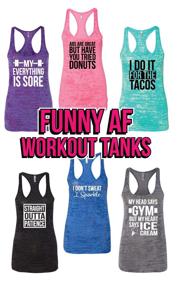90ddf069028ef1 Funny AF Workout Tanks . Pin now