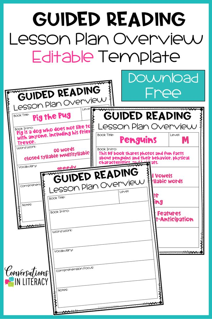 Free Editable Guided Reading Lesson Plan Overview Template To Help Teachers Make Lesso Reading Lesson Plans Guided Reading Lessons Guided Reading Lesson Plans Guided reading lesson plans template