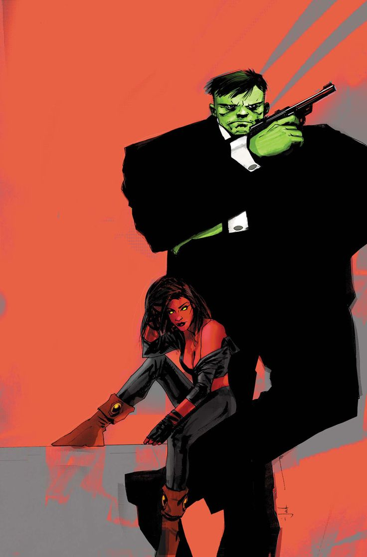 Hulk & Red She-Hulk by Jock