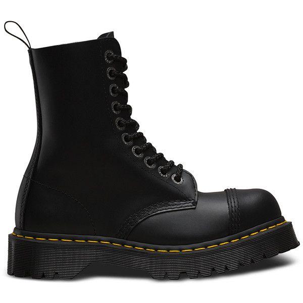 Dr. Martens 8761 Smoke Bex High Boots (€135) via Polyvore featuring men's fashion, men's shoes, men's boots, men's work boots, black, mens tall black boots, mens steel toe boots, mens black work boots, mens black boots et mens boots