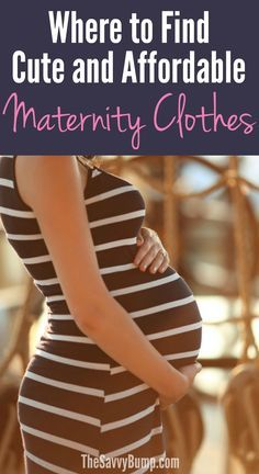 Pregnant? Check out this helpful list of stores that sell cute and affordable maternity clothes.