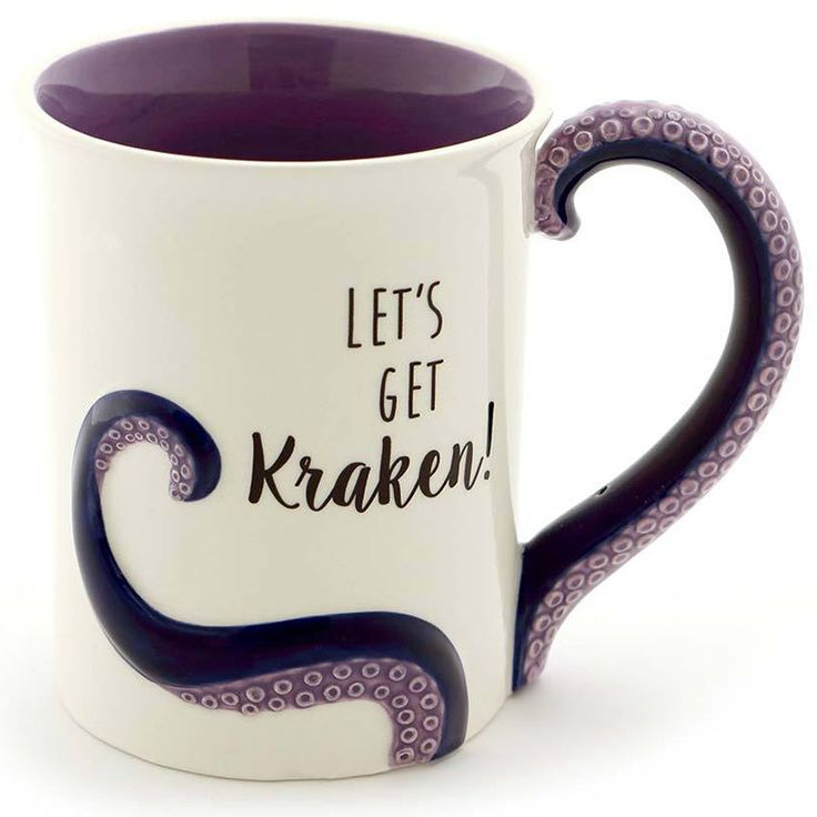 Let's Get Kraken Sculpted Mug in Cube Goodie Mugs