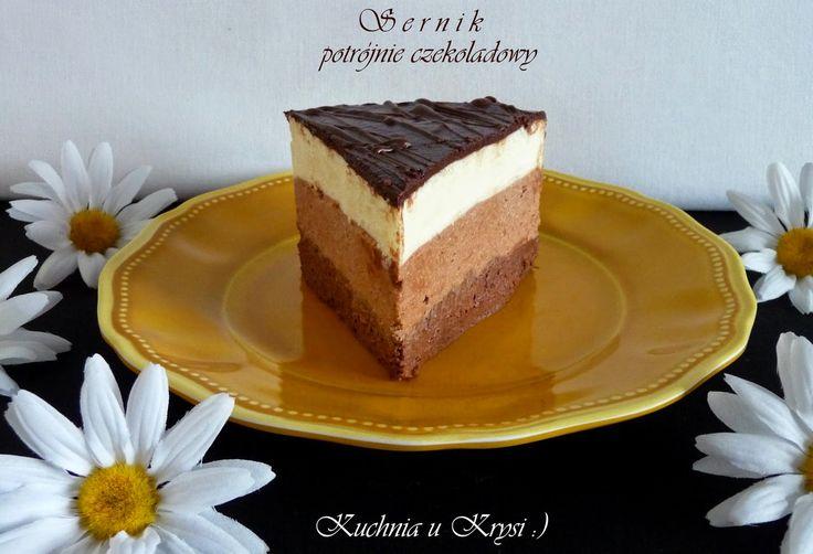 Kuchnia u Krysi : Sernik potrójnie czekoladowy