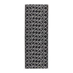 SOMMAR 2017, Teppich flach gewebt, drinnen/draußen schwarz, weiß