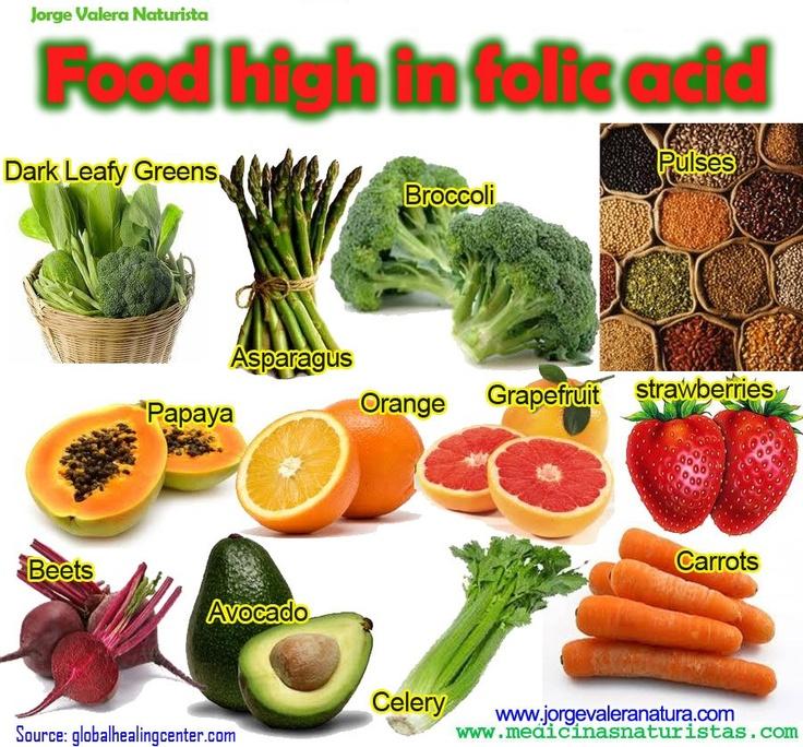 Veggies with folic acid