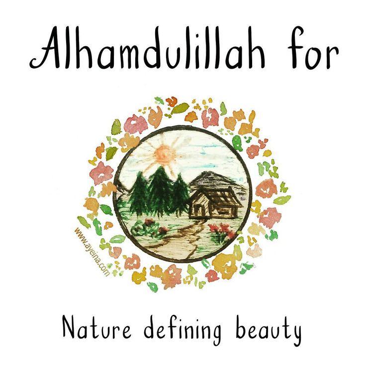 41. Alhamdulillah for nature defining beauty. #AlhamdulillahForSeries