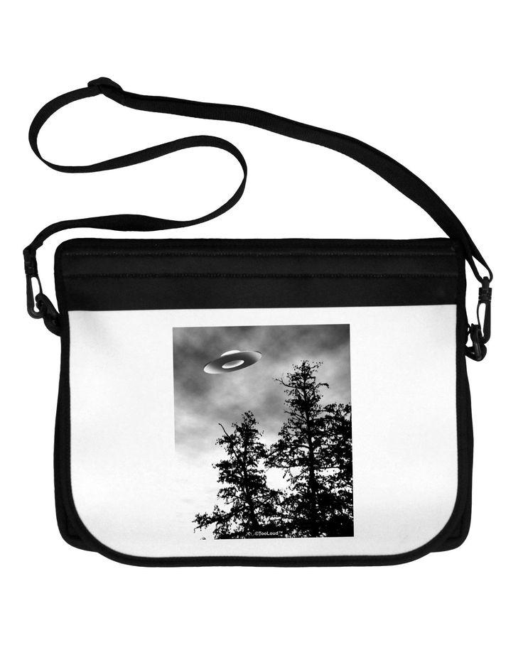 UFO Sighting - Extraterrestrial Neoprene Laptop Shoulder Bag by TooLoud