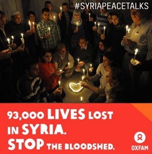 93,000 lives lost in Syria. It's time to prioritize peace talks, not send more weapons into the conflict that will only add more fuel to the fire.