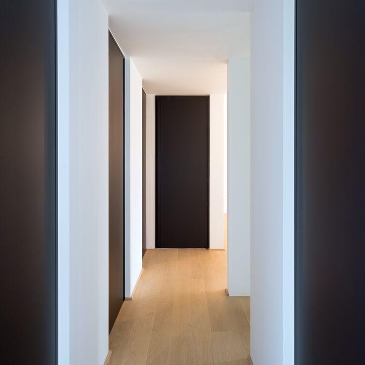 hallway #black #doors