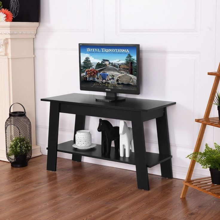 TV Stand Entertainment Center Media Console Home Furniture Storage Modern Black  #TVStandEntertainment #Modern