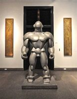 The Wrestler, a 1929 aluminum sculpture by Dudley Talcott (American 1899 - 1986) it was created for the Tenth Olympic Games in Los Angeles 1932. Currently at the Wolfsonian Museum in Miami.