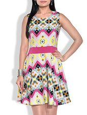 multicolored abstract printed short dress - Online Shopping for Dresses