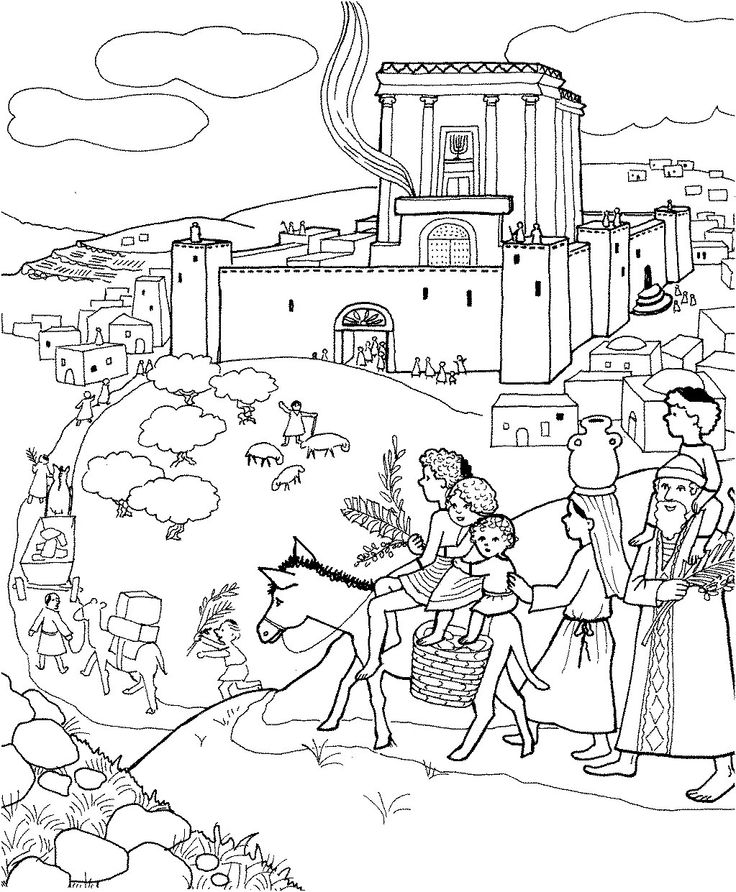 Do Jerusalem Colouring Pages