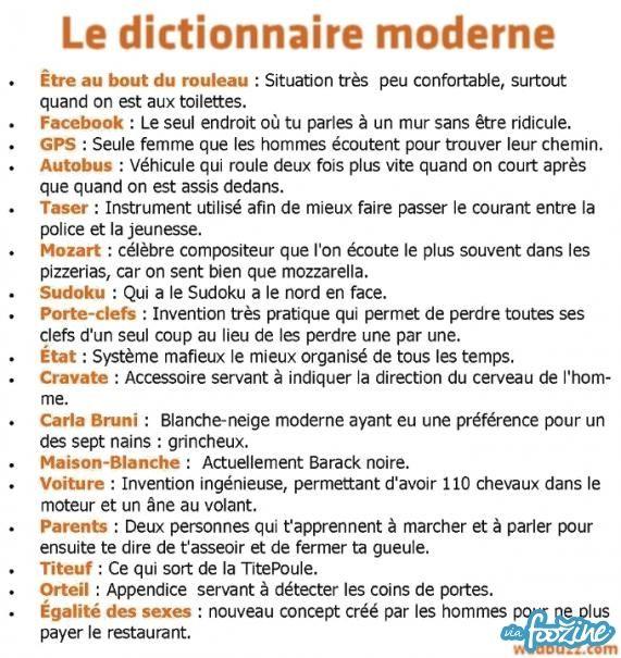 Le Dictionnaire Moderne - foozine.com