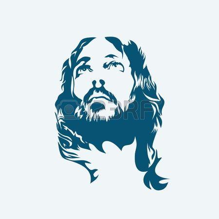католик: Иисус. Нарисованный от руки. Иллюстрация