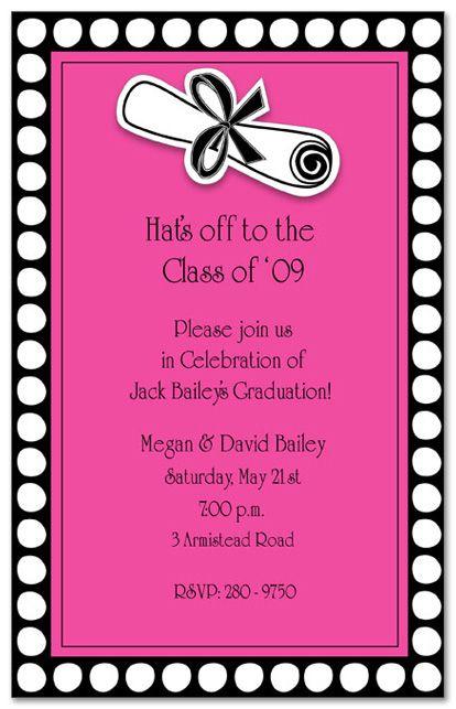 17 best invites images on Pinterest | Grad parties ...