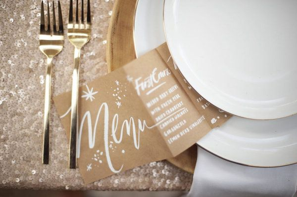 Photography by justinmarantz.com/: Wedding Inspiration, Style, Place Setting, Wedding Ideas, Table Setting, Sequins, Tablecloths, Gold, Sequin Tablecloth