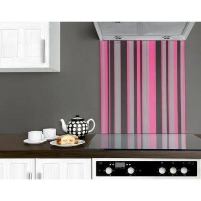 Grey Kitchen With Pink
