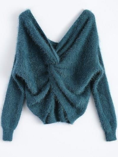 Esponjoso Twisted Chenilla suéter