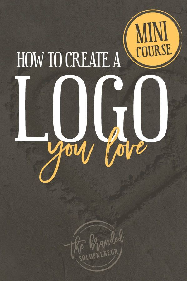 How To Create A Logo You Love {Mini Course} | In this logo course you'll learn how to create a logo that you love + a logo design resource guide and checklist to get you off and running right away! via /brandingbadass/