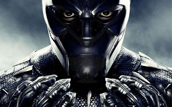 Download wallpapers Black Panther, superheroes, 2018 movie, poster