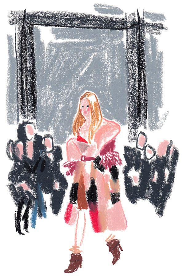 Topshop Illustration: Damien Cuypers London Fashion Week