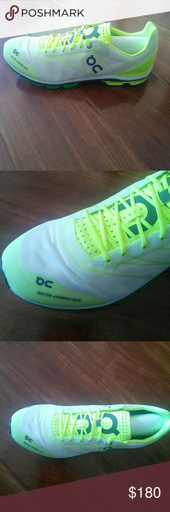 LIMITED EDITION ON CLOUD SNEAKERS 2016 RIO DE JANEIRO one of a kind, specially made for this year's Olympic sneakers. Mens and brand new in box. Never used. So light weight and beautiful colors of Brazil. European sneakers. on cloud Shoes Sneakers