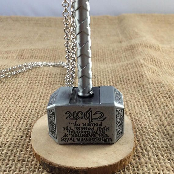 Are you worthy to lift the mighty Mjølnir the hammer of the thunder God Thor. Saw that not only are you worthy but your love of the God of thunder with his hammer on this lovely and detailed silver necklace. For all countries outside the UK please contact us for postage prices.