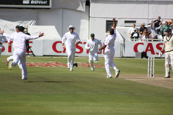 Vernon Philander gets another wicket in 2011 at Newlands in 2011 Photo taken by Tim Dale Lace