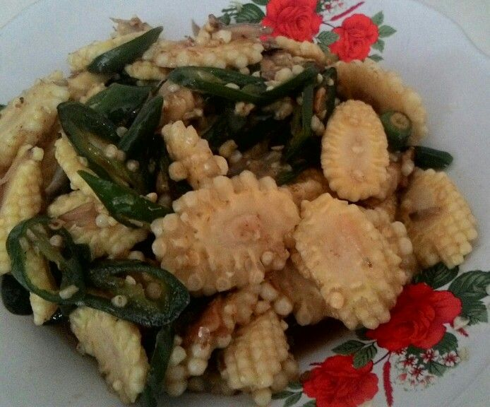 Sayur jagung muda cabe hijau