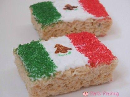 mexican flag food, mexico flag food, mexican flag rice krispie treat, mexican independence day ideas, cinco de mayo dessert ideas