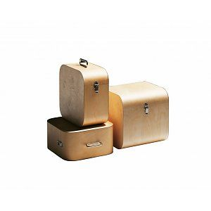 Schmidinger Möbelbau Opbergbox in hout met sluiting groot Fatty Container