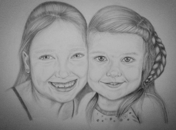 "Pencil Drawing by Gemma Enjuto ""Silvia-Adriana"""