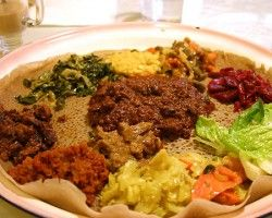 My first experience with Ethiopian food was at the Ethiopian Diamond on the north side of Chicago. I think I'm addicted.