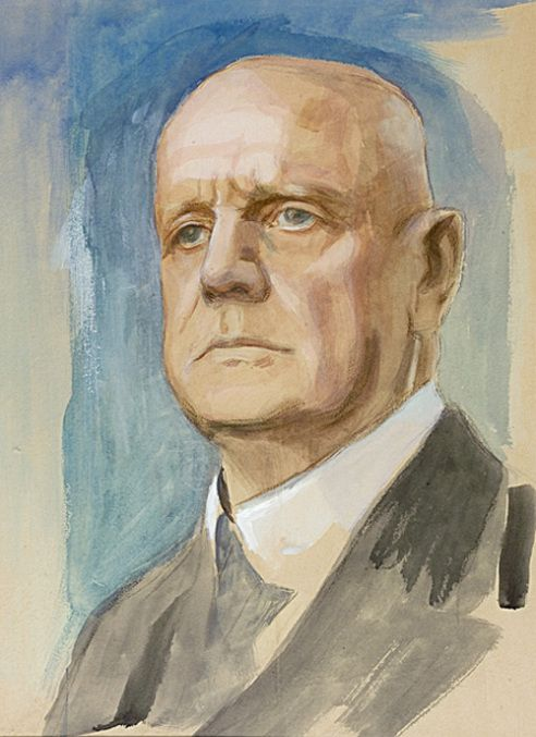 Portrait of Sibelius by Eero Järnefelt