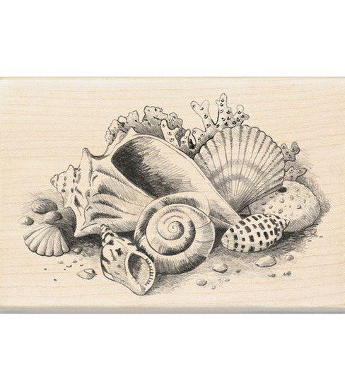 Inkadinkado® Rubber Stamp-Seashells Still Life
