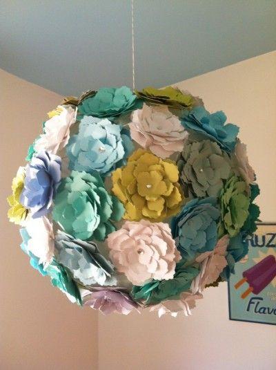 "FREE project: ""Paper Flower Lantern"" from Jessa/Sparkle"