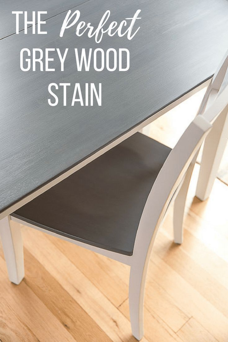DIY Woodworking Ideas I absolutely LOVE this grey wood stain!  Turns hardwoods the perfect shade of da...
