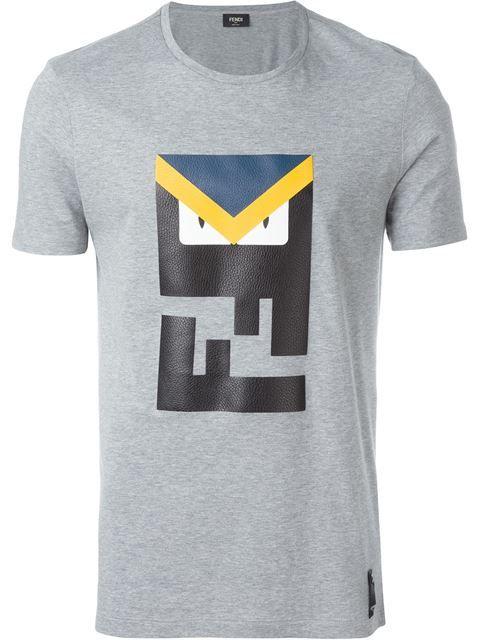 FENDI Bag Bugs Logo T-Shirt. #fendi #cloth #t-shirt
