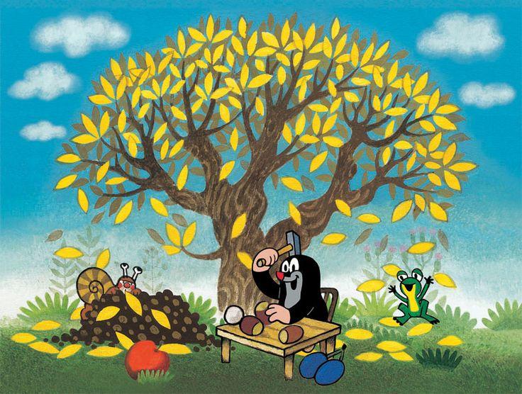 Krtek a roční období (podzim)