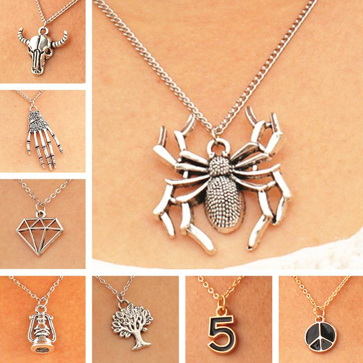 Necklaces & Pendants For Women Men Spider Geometric Simulated Pearls Tree Bull Fashion Jewelry Steampunk Cheap Christmas Gift