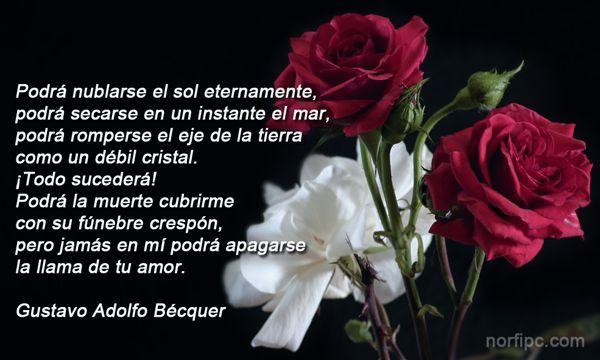 Poema de amor Amor eterno de Bécquer