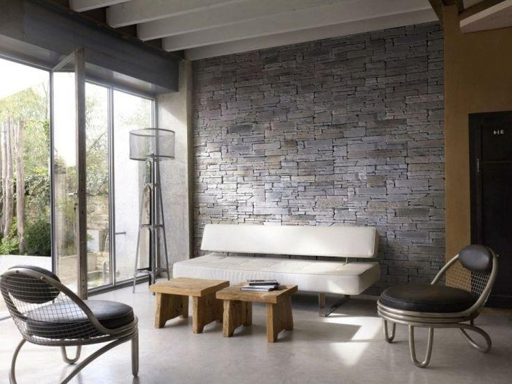Best 25+ Steinwand Wohnzimmer Ideas On Pinterest | Steinwand Innen ... Wohnzimmer Design Modern