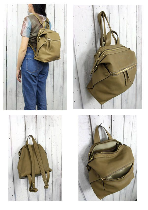 Leather BackPack, handmade in Italy di LaSellerieLimited su Etsy