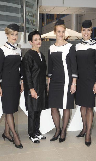 Finnish flight Finnair flightattendant work uniform