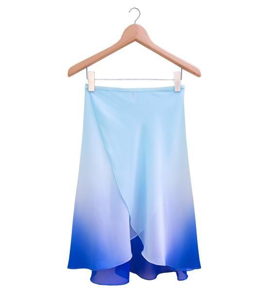 The Degradé Rehearsal Skirt - Ombré Blue