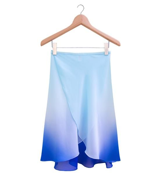 The Degradé Ballet Rehearsal Wrap Skirt - Ombré Blue // www.cloudandvictory.com