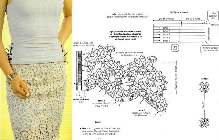 кремовая юбка из ленточного кружева