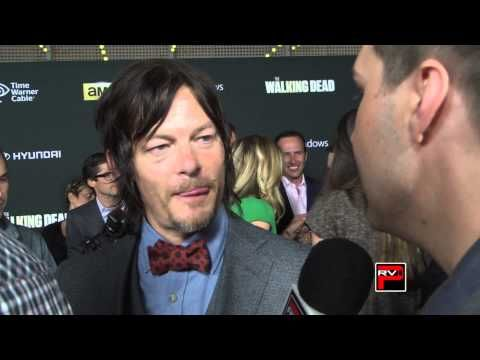 ▶ Norman Reedus aka Darryl Dixon interview Walking Dead Premiere 4 - YouTube