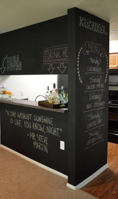 Chalkboard wal